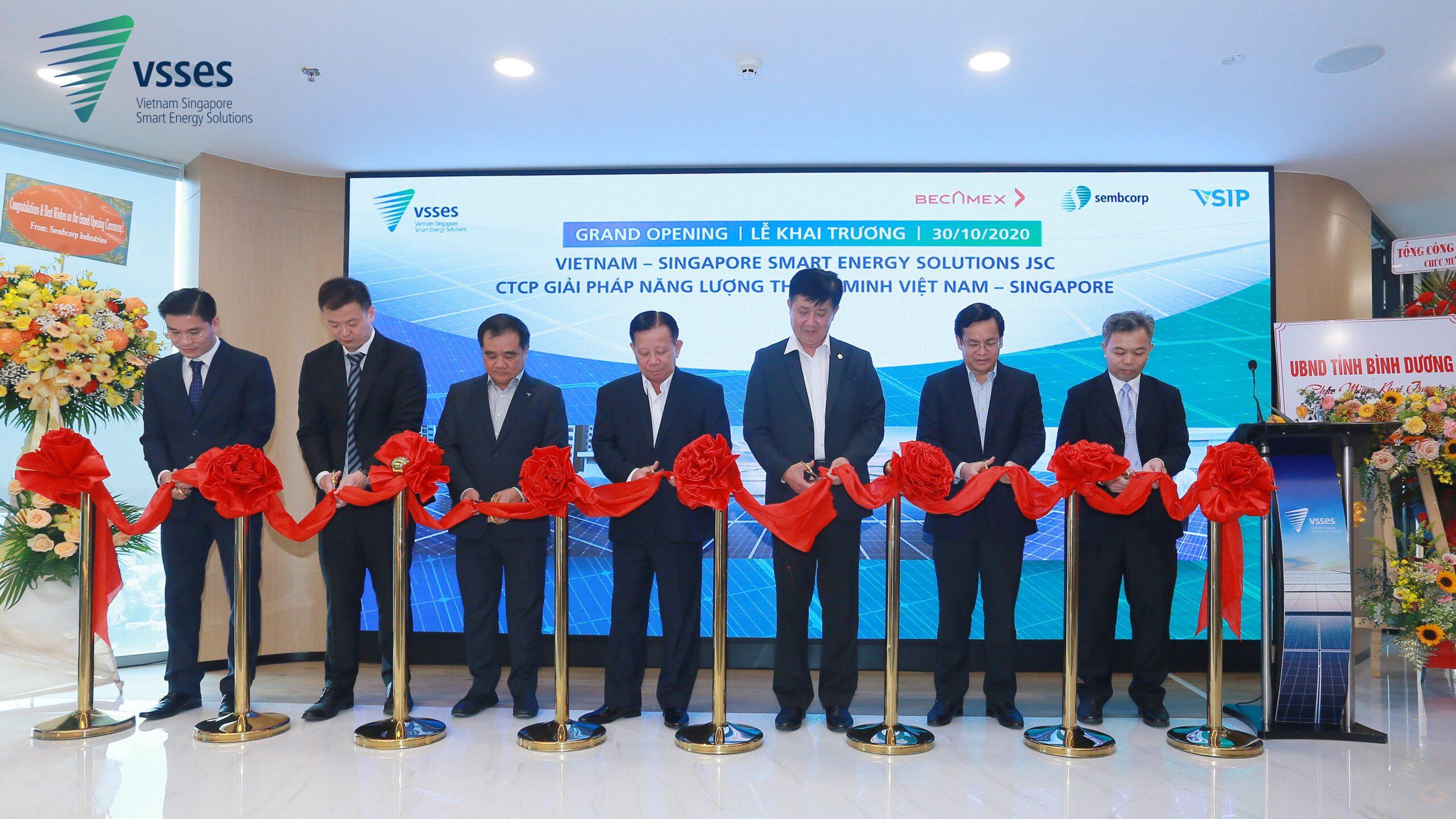 Công ty Cổ phần Giải pháp Năng lượng Thông minh Việt Nam – Singapore (VSSES) khai trương trụ sở chính
