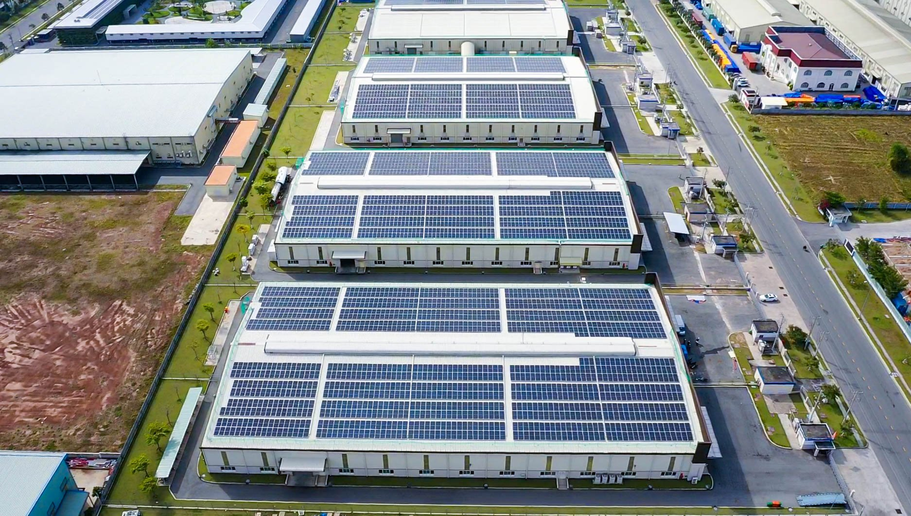 VSSES completed a rooftop solar project of approximately 2 megawatt-peak (MWp) in VSIP II-A